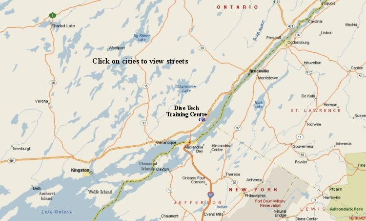 Brockville and Gananoque maps clickable